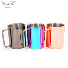 Best Quality for Drinking Mug,Stainless Steel Wine Glasses,Stainless Steel Wine Cup Manufacturers and Suppliers in China 16OZ Double Walled Stainless Steel Mug with Handle export to Portugal Supplier