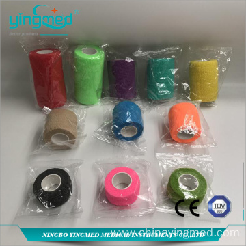 Colored Cotton Elastic  Self-adhesive Bandage