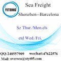 Shenzhen Port LCL Consolidation To Barcelona