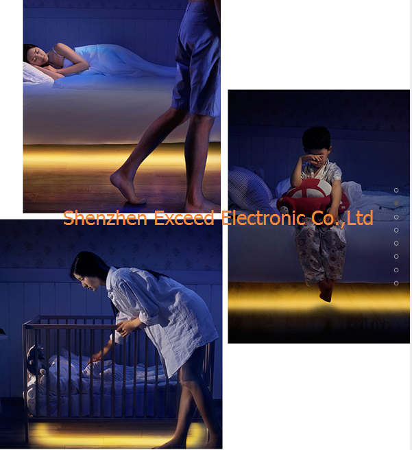 Children Room Double Sensor LED Bed Light
