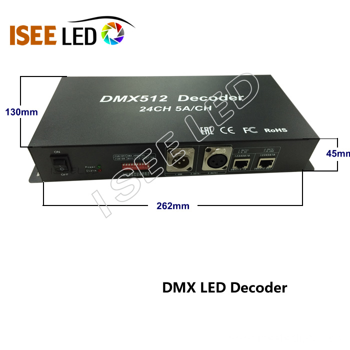 24 Channels Madirx DMX to PWM Controller