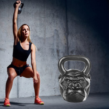 Cast Iron Skull Head Kettlebell