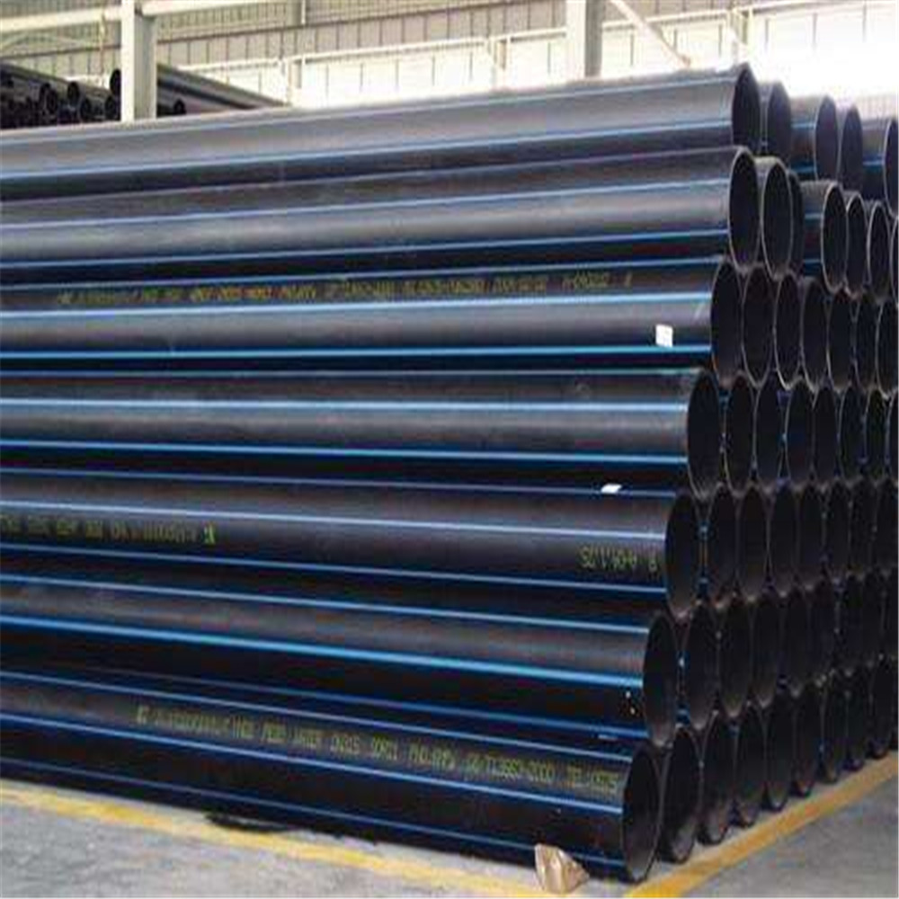 Round hollow water supply polyethylene HDPE pipe