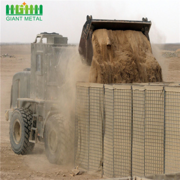 Defensive bastion hesco barriers for military wall