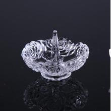 Fast Delivery for Jewelry Ring Holder rose flower pattern glass ring holders for gifts supply to Barbados Manufacturers