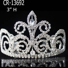 Silver Rhinestone Tiaras Crown For Girl