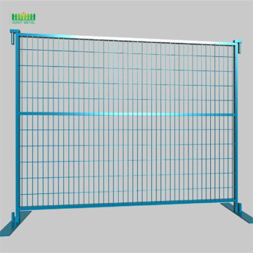 Temporary fence with metal fencing