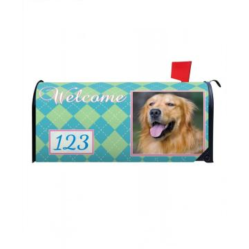 Custom Outdoor Dogs Magnetic Mailbox Cover