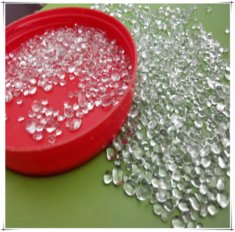 clear colored glass beads