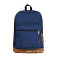 Blue Polyester Laptop Backpack with Velvet Bottom
