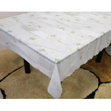 extra wide Printed pvc lace tablecloth by roll