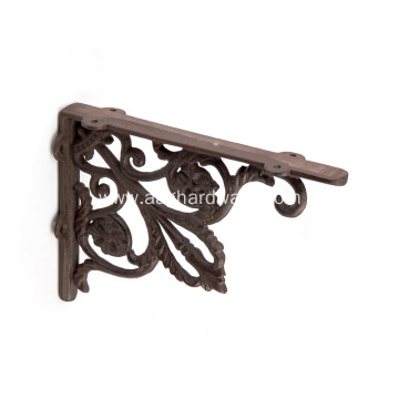 Heavy Duty Cast Iron Rustic Brown Shelf Bracket