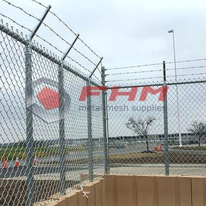 Airport Fence of Galvanized Chain Link Fabric
