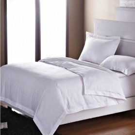 50%Cotton50%Poly White Bed Sheet Sets 180TC