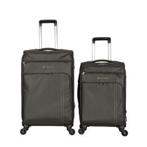 Fabric Polyester Trolley  Suitcase Wheeled Fabric Luggage
