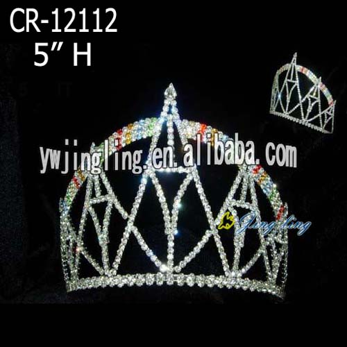 Rainbow And Castle Crystal Pageant Crown