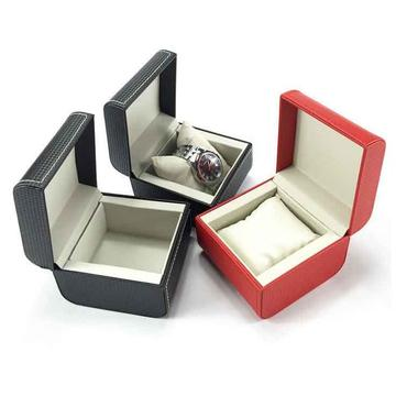 Luxury clamshell leather jewelry gift box