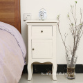 living room white wooden bedside table cabinet 2 drawers night stand