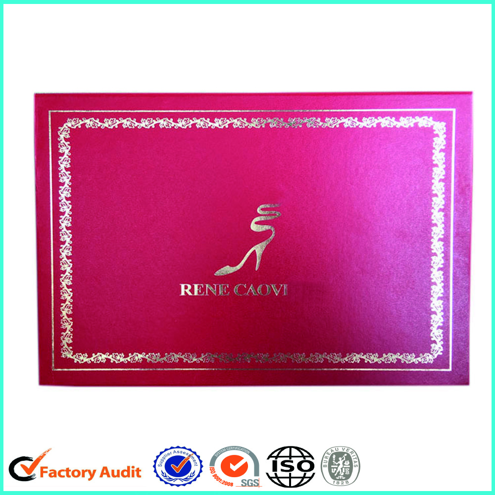Luxury Foil Logo Ladies Shoe Box Custom Design
