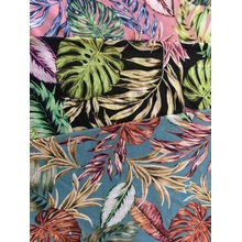 Tropical Design Rayon Poplin shuttle 45S Printing Fabric