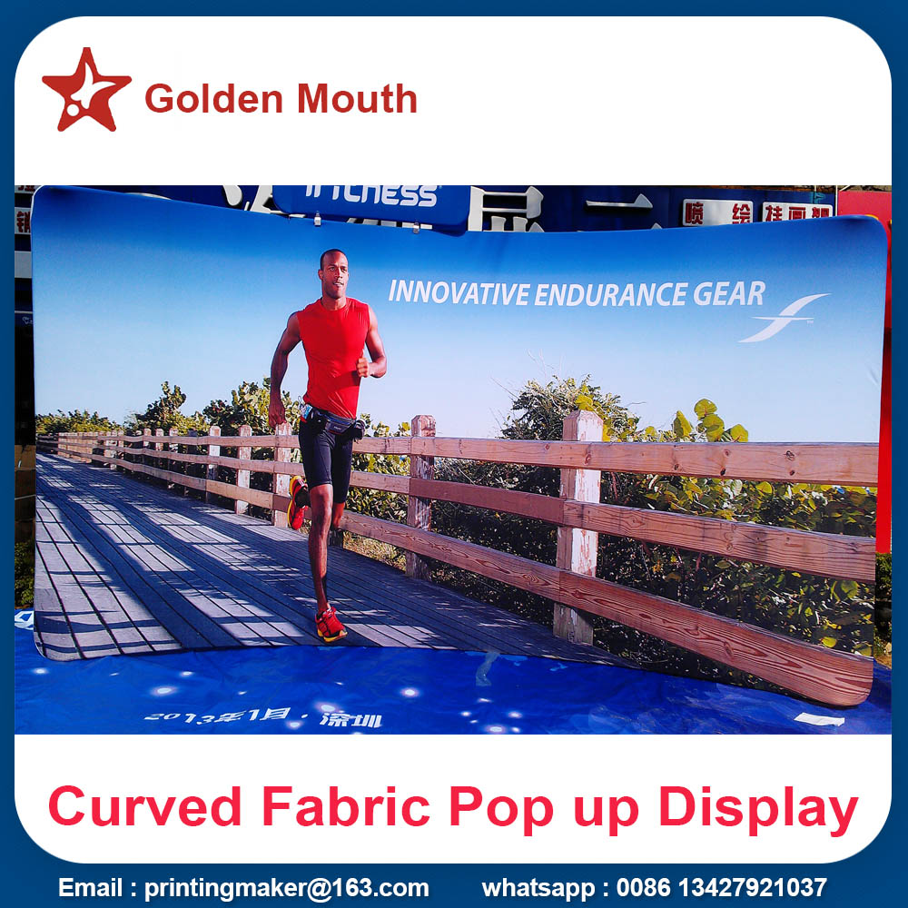 Curved Top Tension Fabric Banner Stand