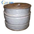 Natural white double braid polyethylene PE rope