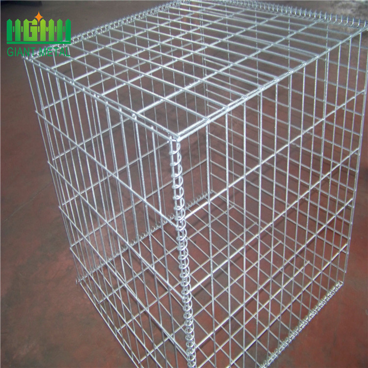 Welded gabion rock basket