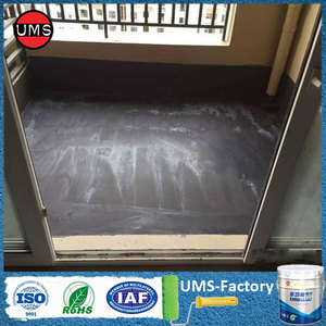 Waterproof coating spray on concrete