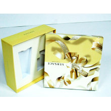 Yellow 2 Pieces Cosmetics Kit Box with Pad