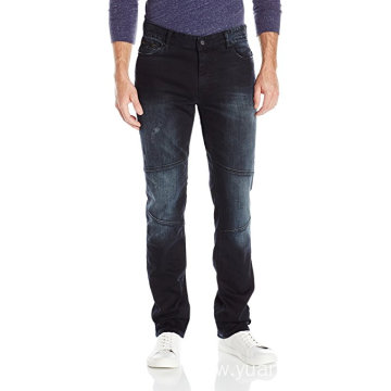Jeans Men's,Slim Straight Fit Denim Moto Jean