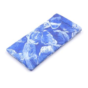 Customized microfiber glasses pouch with elastic metal