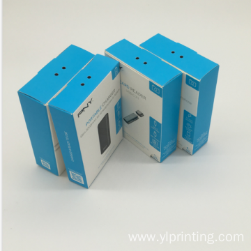 Foldable packaging handmade color paper box for promotion