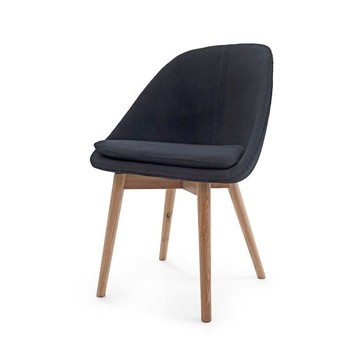 solo solid wood dining chair for public area