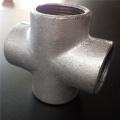 plain BS malleable iron pipe fittings cross