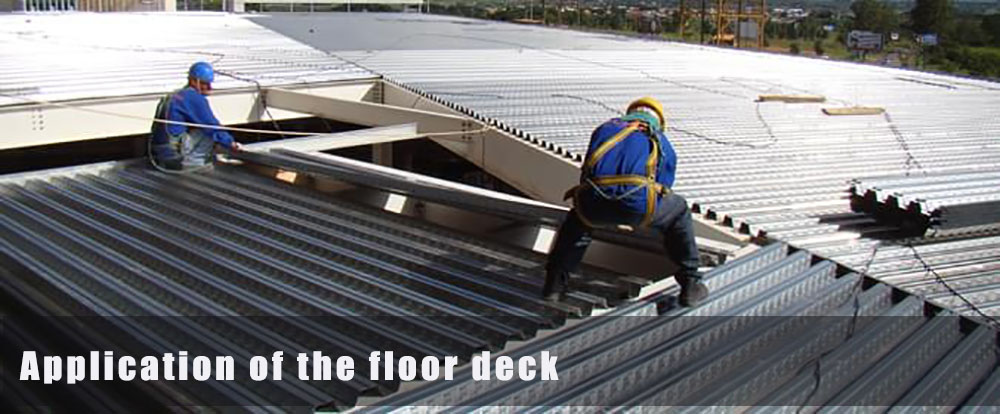 application of the floor deck