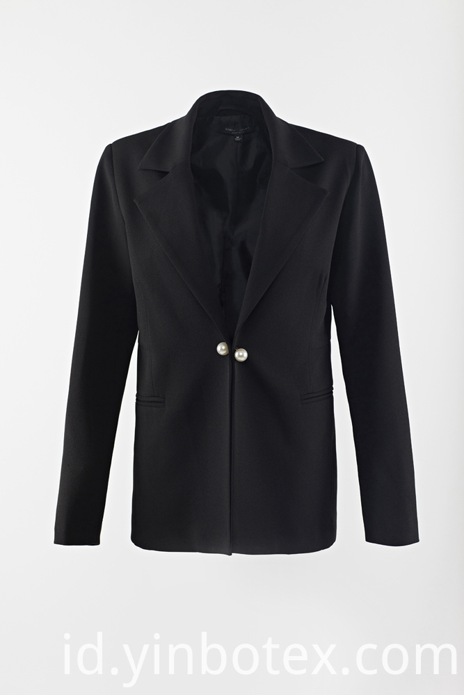 black pearl button suit