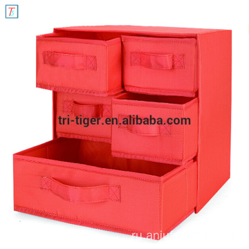 Foldable Storage Cubes Fabric Drawer Baskets Bins Set Closet Organizer