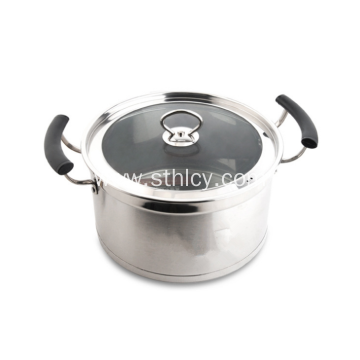Stainless Steel Sauce Pot With Glass Lid