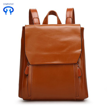 Outdoor travel backpack cow leather Korean version