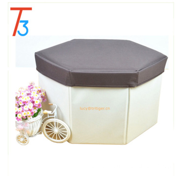 Folding Storage Ottoman Foot Stool Seat Footrest Foldable Storage Box