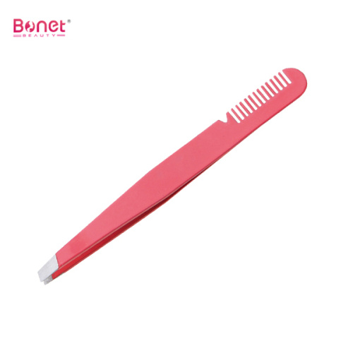 Best slant tip eyebrow tweezers with comb end