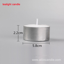 High quality pressed aluminum cup tea light candle