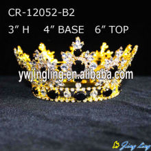 Wholesale Full Round Rhinestone Pageant Crowns