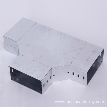 Hot dip galvanized wireway horizontal connection cable tray