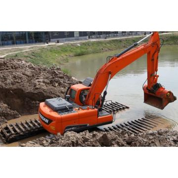 Pontoon crawler type amphibious excavator Sale