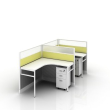 New Fashion Design for 4 Seat Office Workstation Cubicle office furniture workstation 2 person pc partition export to Nigeria Factory