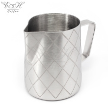 Factory Direct Milk Pitcher Unique Etching 600ml Milk Jug