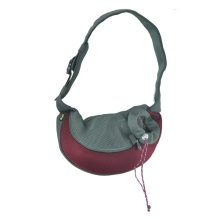 Supply for Durable and Colorful Pet Backpack Burgundy PVC and Mesh Pet Sling export to India Manufacturers