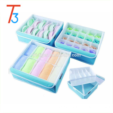 3 pieces Drawer Dividers Bra Underwear Socks storage bags drawers with Clear Cover