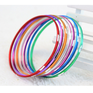 China for Aluminum Bangle Engraved Thin Aluminium Bangles Bracelets Plated Colors supply to Gabon Factory